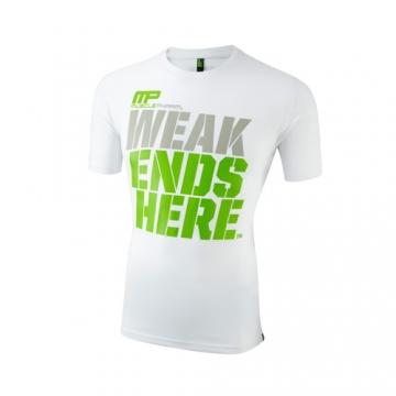 Musclepharm Sportswear Crew Neck Weak Ends Here Tee White (MPTS404)