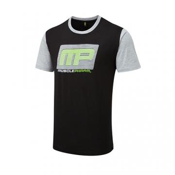 Musclepharm Sportswear Flock Logo Tee Black (MPTS481)