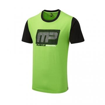Musclepharm Sportswear Flock Logo Tee Green (MPTS481)
