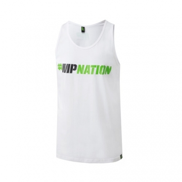 Musclepharm Sportswear Graphic Vest Hashtag White (MPVST434)