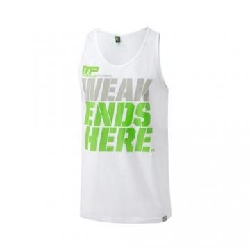 Musclepharm Sportswear Graphic Vest Weak Ends Here White (MPVST437)