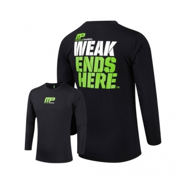 Musclepharm Sportswear Long Sleeve Rashguard Black (MPTS419)