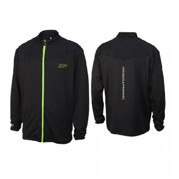Musclepharm Sportswear Mens F/Z Sweat with Mesh Trim Black (MPSWT523)