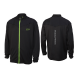 Musclepharm Sportswear Mens F/Z Sweat with Mesh Trim Black (MPSWT523)