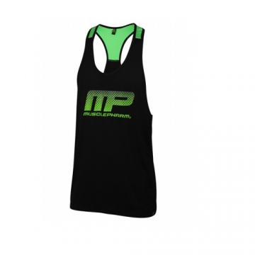 Musclepharm Sportswear Mens Performance Vest Green (MPTS519)