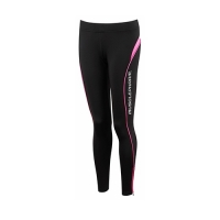 Musclepharm Sportswear Womens Detailed Tight Black-Hot Pink (MPLPNT465)