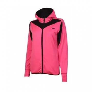 Musclepharm Sportswear Womens F/Z Hoody with Contrast Trim Hot Pink (MPLSWT525LS)