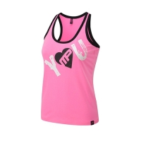 Musclepharm Sportswear Womens I Heart You Vest Hot Pink (MPLVST488)