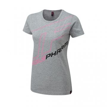 Musclepharm Sportswear Womens Outline Logo Tee Grey (MPLTS487)