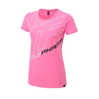 Musclepharm Sportswear Womens Outline Logo Tee Hot Pink (MPLTS487)