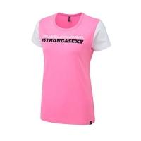 Musclepharm Sportswear Womens Strong & Sexy T-Shirt Hot Pink (MPLTS486)
