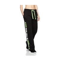 Musclepharm Sportswear Womens Sweat Pant Black / Lime (MPLPNT453LS)