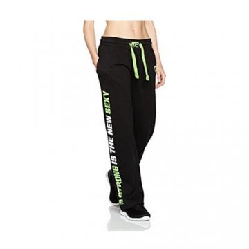Musclepharm Sportswear Womens Sweat Pant Black / Lime (MPLPNT453LS)