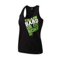 Musclepharm Sportswear Womens Train Hard Vest Black-Green (MPLVST489)