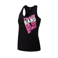 Musclepharm Sportswear Womens Train Hard Vest Black-Hot Pink (MPLVST489)