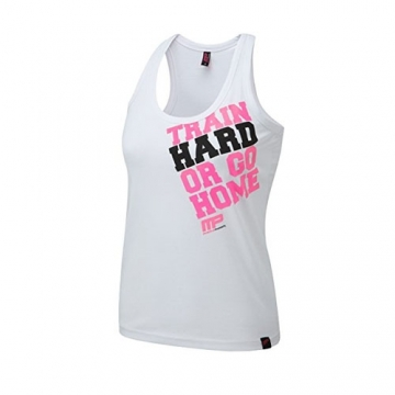Musclepharm Sportswear Womens Train Hard Vest White (MPLVST489)