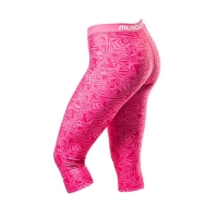 Musclepharm Sportswear Womens Vortex 3/4 Legging Pink (MPLPNT497)