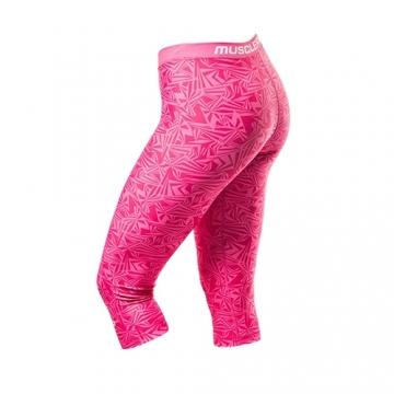 Musclepharm Sportswear Womens Vortex 3/4 Legging Pink (MPLPNT497)