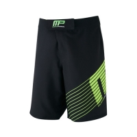Musclepharm Sportswear Woven Short Sportline Black Lime-Green (MPSHO420)