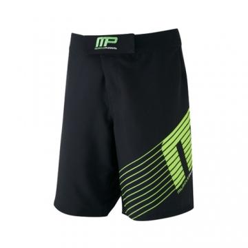 Musclepharm Sportswear Woven Short Sportline Black Lime-Green (MPSHO420)