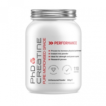 PhD Micronized Pharmaceutical Creatine (250g)