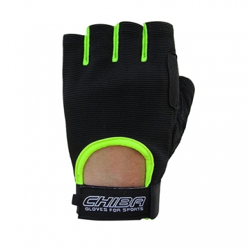Chiba 40517 Summertime Gloves (Black/Neon yellow)