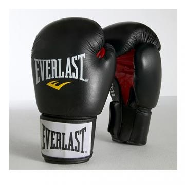 Everlast Moulded Foam Training Glove Leather (Black)