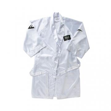 Everlast 100% Poly Satin Full Length Boxing Robe (White)