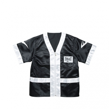 Everlast 100% Polyester Satin Corner Jacket (Black/White)