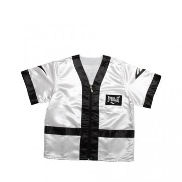 Everlast 100% Polyester Satin Corner Jacket (White/Black)