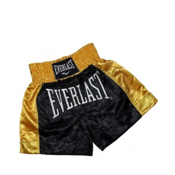 Everlast EM6 Mens Thai Boxing Short (Black/Gold)