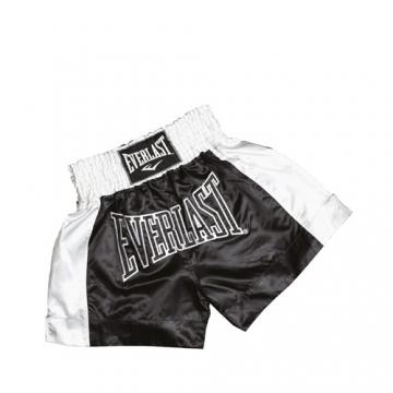 Everlast EM6 Mens Thai Boxing Short (Black/White)