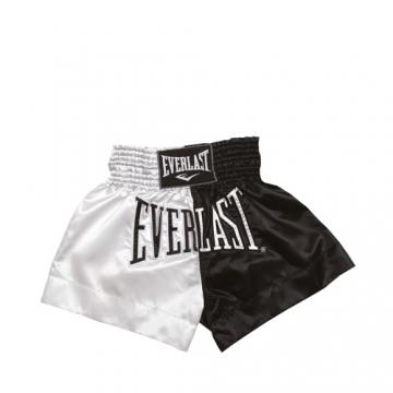 Everlast EM7 Mens Thai Boxing Short (White/Black)