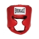 Everlast Leather Full Protect Headgear (Red)