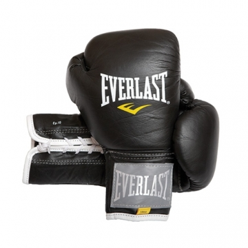 Everlast Leather Pro Fighter Glove (Black)