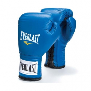 Everlast Leather Pro Fighter Glove (Blue)