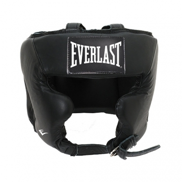 Everlast Leather Pro Traditional Headgear (Black)