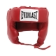 Everlast Leather Pro Traditional Headgear (Red)