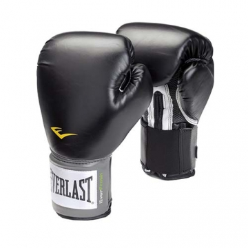 Everlast Leather Velcro Training Glove (Black)