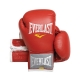 Everlast Leather Velcro Training Glove (Red)