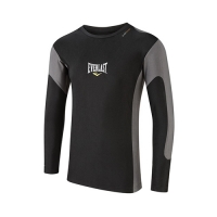 Everlast Mens L/Sleeve Rash Guard Contrast Panel (Black/Grey)