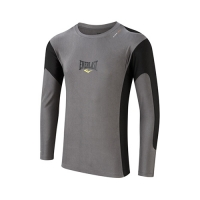 Everlast Mens L/Sleeve Rash Guard Contrast Panel (Grey/Black)