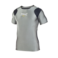 Everlast Mens S/Sleeve Rash Guard Contrast Panel (Grey/Black)