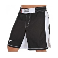 Everlast MMA8 Mens Mixed Martial Arts Shorts (Black/White)