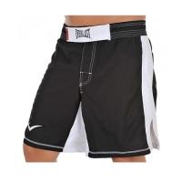 Everlast MMA8 Mens Mixed Martial Arts Shorts (Black/White)