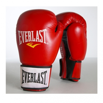 Everlast Moulded Foam Training Glove Leather (Red)