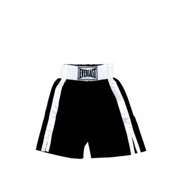 Everlast Pro Boxing Trunks (61cm) (Black/White)
