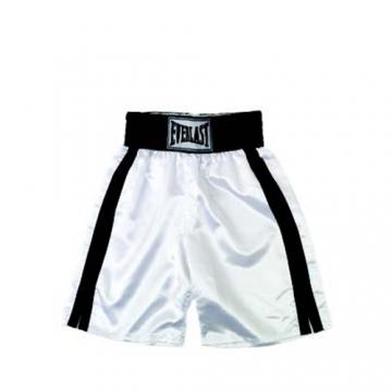 Everlast Pro Boxing Trunks (61cm) (White/Black)