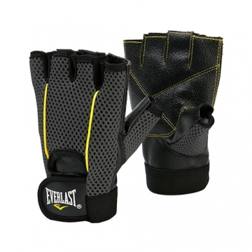Everlast Weight Lifting Glove (Black/Yellow)
