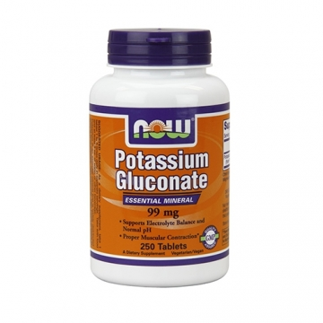 Now Foods Potassium Gluconate 99mg (250)